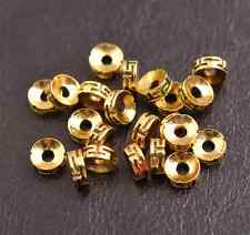 Tibetan Silver/Gold/Bronze Rings Spacer Beads Jewelry Findings 50/100Pcs 3116