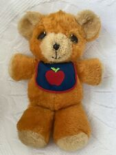 Vintage 1975 Fisher Price #418 FREDDY TEDDY Stuffed Toy BEAR Apple Bib SQUEAKER