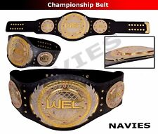 """WEC Championship Extreme Cage Fight Replica Belt Real Leather Adult 50"""" New"""