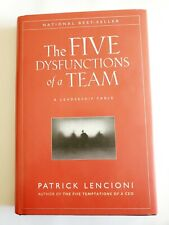 The Five Dysfunctions of a Team Patrick Lencioni 2002 Hardcover FREE SHIPPING
