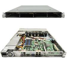 Supermicro CSE-815 1U Rack Server Mainboard X8SIE-LN4F LGA 1156 ohne Kühler