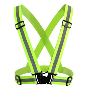 High visibility outdoor safetyvest reflective belt safetyvest fit for running*wk