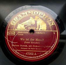 0791/MARLENE DIETRICH-Où est l'homme-ARTHUR BRIGGS trompette - 78 tr/min gomme laque