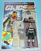 1990 GI Joe Cobra Metal Head v1 Iron Grenadiers Figure File Card Back Complete