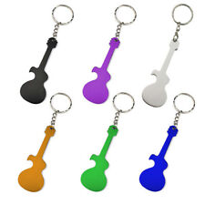 Temlum Guitar Shape Bottle Opener Music Keychains, 6 Piece