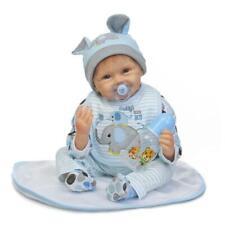22inch Reborn Baby Reborn Dolls Realistic Newborn Doll Lifelike Blue Toddler