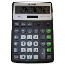 Sharp El-R297bbk Recycled Series Calculator W/kickstand- 12-Digit Lcd New