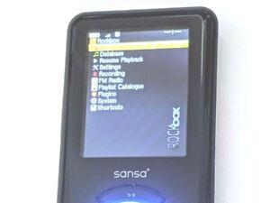 SanDisk Sansa e200/e260 4GB Rockbox FM/MP3 Player Installed Dual Boot