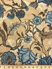 "100% Cotton Duck Upholstery Tree Floral Fabric BTY 55"" Wide By Chris Stone"