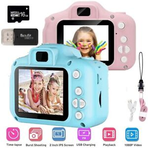 "Kids Digital HD Camera Video Recorder 2"" Display +16GB SD Card For Children"