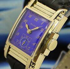 🔥Vintage mens 1938 Bulova *1 IN A MILLION RARE*3 PIECE CASE EPIC Art Deco Watch