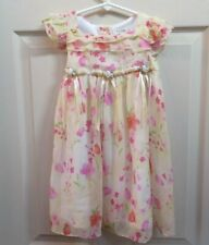 Girls 3T yellow floral dressy spring dress George brand Easter dress