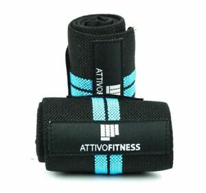 ATTIVO Weightlifting Wrist Wraps w/Thumb Loop - Wrist Support for Lifting (Pair)