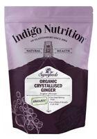 Indigo Herbs Organic Crystallised Ginger 250g - 1kg Sugar Covered