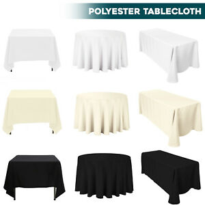 Rectangle Round Table Cloth Covers Dining Table Protector Cover Tableware Decor