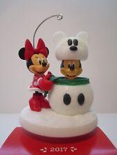 2017 Hallmark Disney Mickey and Minnie Snowmouse Surprise Ornament NEW