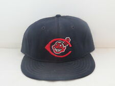 Canton-Akron Indians Hat (VTG) - 1980s Pro Model by Roman Pro - Fitted 7 1/4