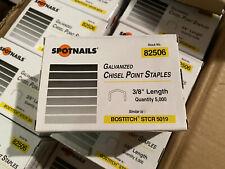 New Spot Nails 3/8 Galvanized Chiziel Point Staples Qty 5000 Per Box