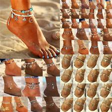 Boho Elegant Women Anklet Foot Turquoise Shell Ankle Barefoot Bracelet Jewelry