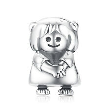 JewelryPalace 925 Sterling Silver Cute Girl Doll Charm Beads
