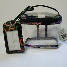 Vera Bradley Lighten Up Travel Duo Kiev Paisley Container Clear PVC NWT MSRP $48