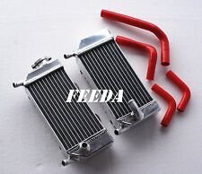 Radiator  FOR HONDA CRF250X CRF250R Left & Right AND HOSE RED SET 2004-2009