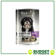 Black Hawk Holistic K9 Cans Grain Free Beef For Adult Dogs 400gm X 12