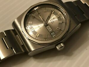 S/S ZENITH AF/P AUTOMATIC 38 mm MEN'S WATCH DAY DATE SWISS