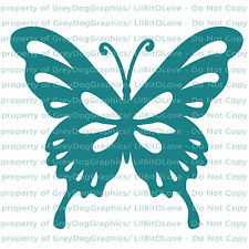 Tear Drop Butterfly Vinyl Decal Auto Tattoo Sticker Curly Car Vehicle