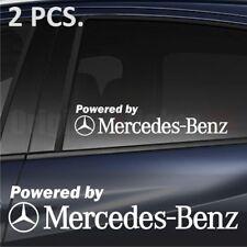 2 pcs. Powered by Mercedes-Benz Window Decal Premium sticker emblem logo C-class