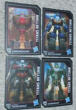 Transformers Titans Return 4 Card Lot Generations BREAKAWAY TWINFERNO HARDHEAD