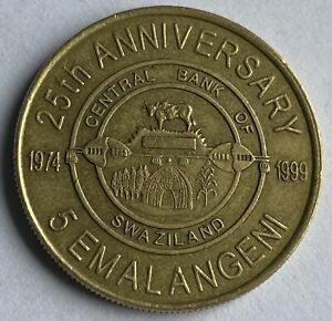 Swaziland 5 Emalangeni 1999 (KM#53) Central Bank