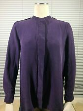 Burberry Purple Silk Blouse With Epaulets Size S