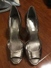bcbg max azria shoes 7 Peep Toes, Color Pewter