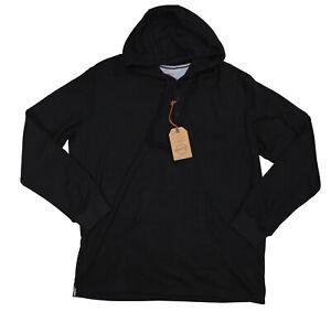 Weatherproof Vintage Waffle Knit Henley Style Pullover Hoodie XXL NWT Black