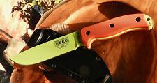 ESEE Model 6 Venom Green Orange G10 Handle Fixed Blade Survival Knife ESEE-6P-VG