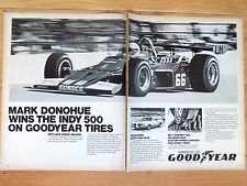 1972 GOODYEAR MARK DONOHUE HURST OLDS   X-LARGE  MAGAZINE AD  26 x 21