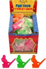 12 fischio Birds rumorosi FUNNY Toy PARTY BORSE FILLER Goody BAG Bambini Ragazzi Ragazze