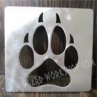 dog paw metal stencil 6.5 x 6.5 inch wood working general purpose stencil