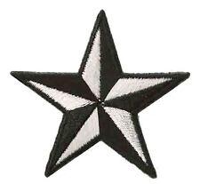 Ecusson patche étoile Noir Blanc petite star patch thermocollant