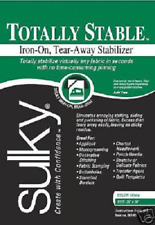 """Sulky Totally Stable Embroidery Stabilizer!20""""x25yd! Whi"""