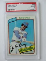 1980 Topps Seattle Mariners #32 JULIO CRUZ PSA 9 Mint Baseball Card