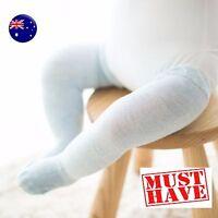 Girl Kid baby knees Calf High Cotton blend leg long Socks Tights 0-24months C117