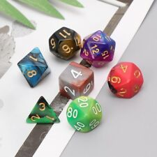 7pcs/Set Dices Beads TRPG Games D4-D20 Multi-sided Colorful