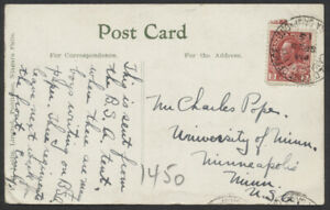 1915 Niagara Camp Ont FPO CDS On Post Card to USA