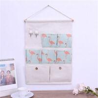 5/7 Pocket organizer Linen/Cotton Fabric Wall Door Closet Hanging Storage Bag