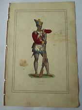 Costume soldat Hindou DELHI LITHOGRAPHIE originale du recueil  M.BOULGON 1860