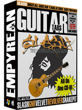 Slash ULTIMATE Guitar Tabs CD-R Digital Lessons Software Guns N Roses Win Mac