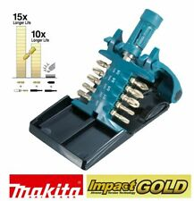 "Makita Tool Impact Gold Screwdriver Bit Set Magnetic Bit Holder 1/4"" 11 Pc"