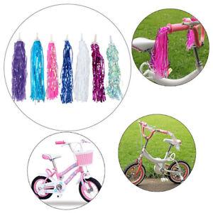 2x Kids Girls Bicycle Bike Streamers Tricycle Handlebar Grips Tassels 7 Colors